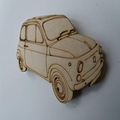 Wood Classic car Fridge Magnet