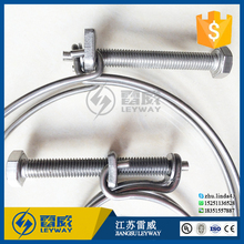 Double Wire Grip Cable Tight Pump Hose Pipe Clip Bolt Clamp