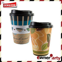 Wholesale Double Wall Disposable Paper Cup Red Coffee Cup