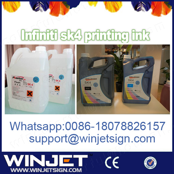 2016 new product vivid color challenger sk4 ink for zhongye icontek Gongye Crystal Solvent printer