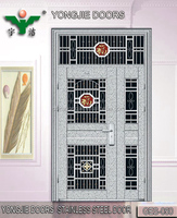 kuwait imports and exports stainless steel door wit glass for apartment security fashion high quality door GES-050