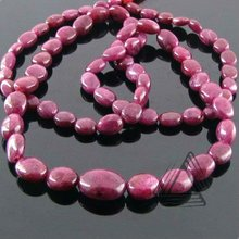 Ruby Smooth Oval Beads Strand, Natural Wholesale Beads, Natural Precious & Semi Precious Color Gemstone from Jaipur
