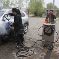 2015 new CE 30 bar diesel mobile vapor steam car wash equipment/vapor mud cleaner