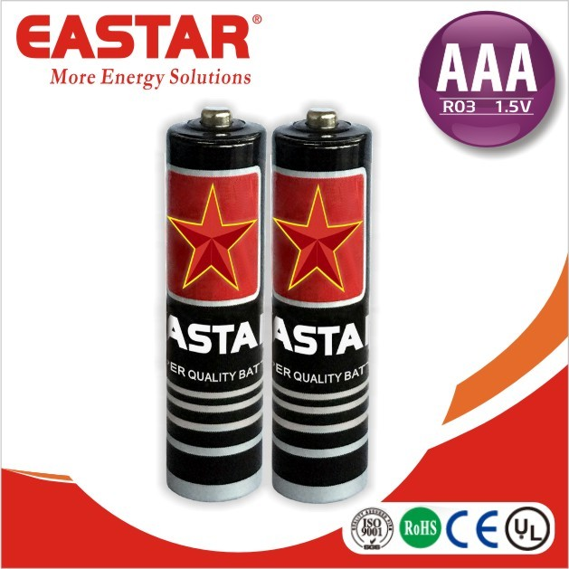 Price of carbon zinc 1.5v aaa r03 um-4 dry cell battery