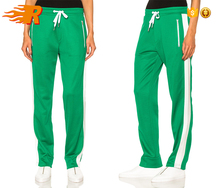 Bulk Wholesale Custom Womens Blank Sweat Pants Slim Fitted Side Striped Track Pants