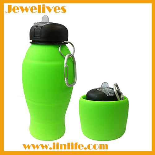 Shenzhen Jewelives 600ML silicone water bottle for outdoors