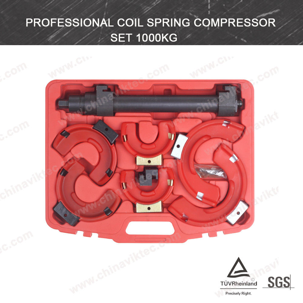 Professional Macpherson Strut Coil Hydralic Spring Compressor Set 3 interchangeable yokes with plastic protector(VT01032B)
