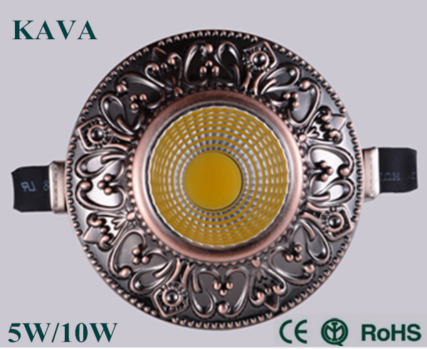 Luxury European style led recessed ceiling light with Epistar chip,CE RoHS certificate