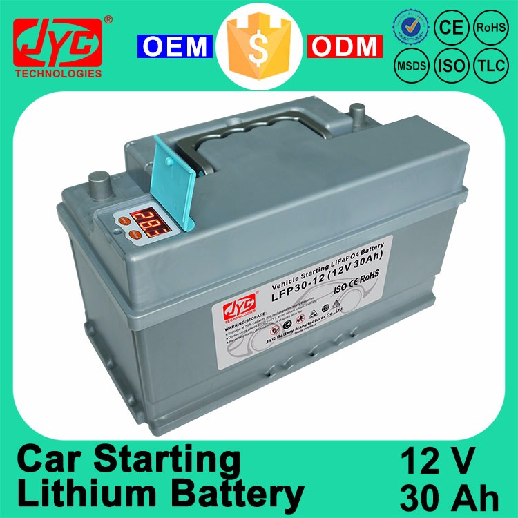 Best 12V 30Ah Lithium ion LiFePO4 Li ion Vehicle Auto Car Starter Battery Price for Car Battery