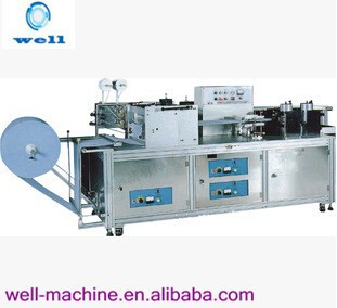 Disposable plastic non woven cap making machine