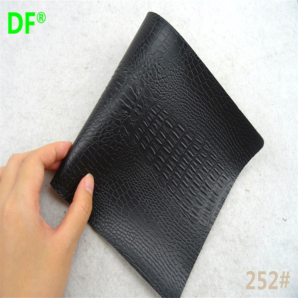 Embossed 100% pvc imitation synthetic leather for handbags