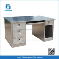 Good Quality Side Drawers Stainless Steel Computer Desk
