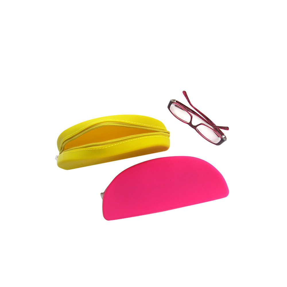 Zipper bag for glasses,Multi-function silicone glasses/pencil package,silicone makeup box/bag