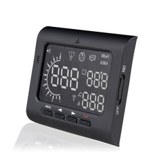 Universal Car HUD Head Up Display OBD II 2 Speed Warning System Fuel Consumpt Warning Car Styling Hot selling