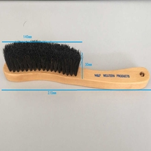 stocked long beech wooden handle horse hair brush/bed brush /hat brush