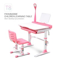 study table and cabinet Adjustable height children study table and chair