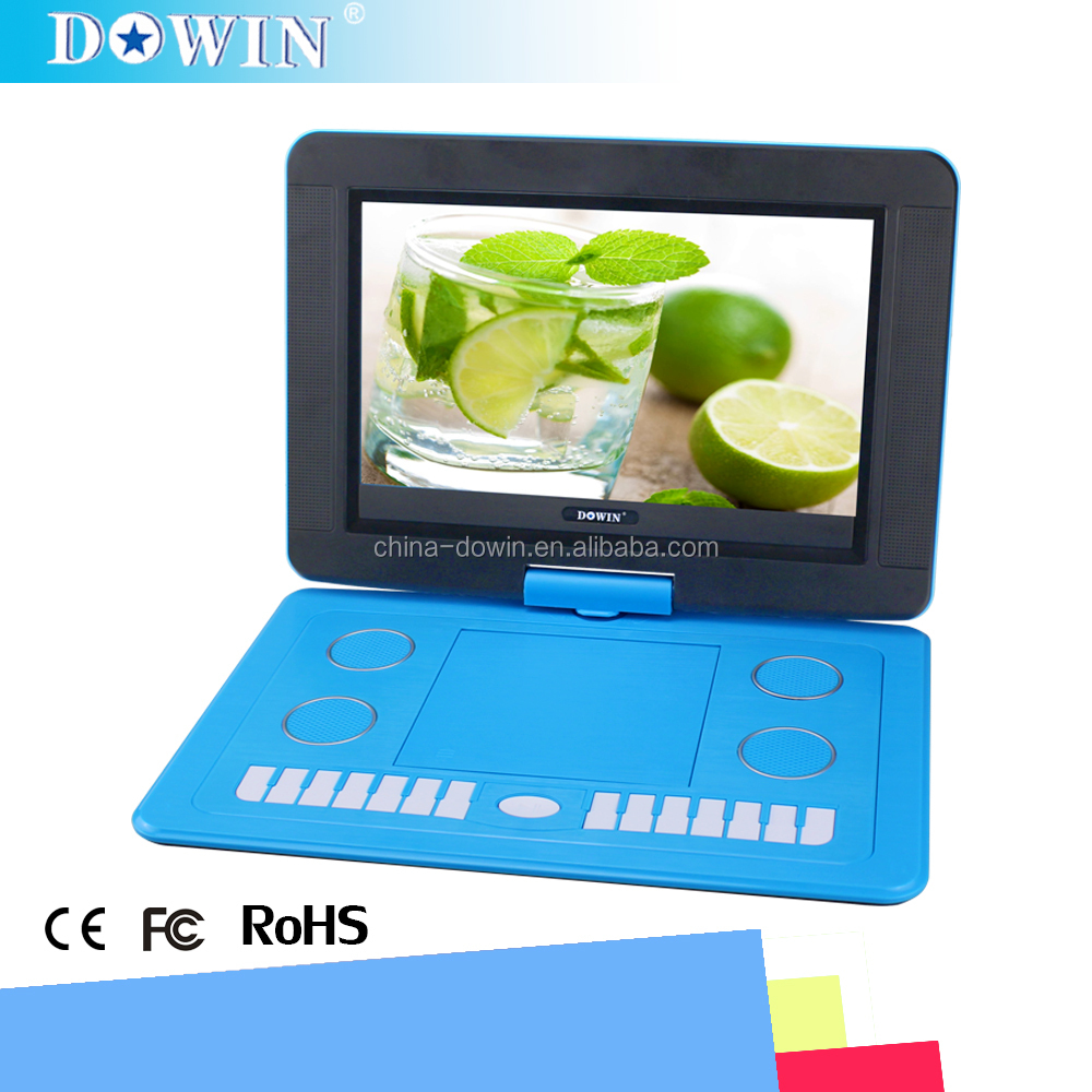 "manufacture wholesale OEM nice quality USB TV GAME SD 11.6"" TFT Screen Portable DVD Player With AC Adapter And DC Power Supply"