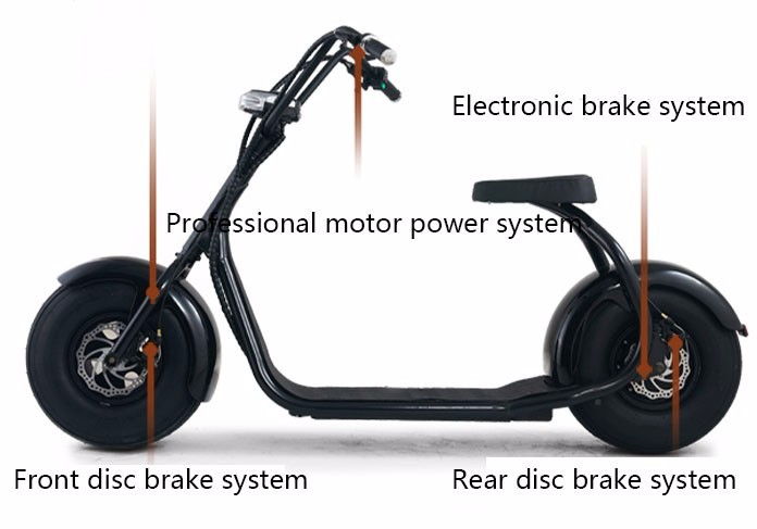 Scooter 18*9.5Inch 60V800w 1000W Citycoco Fat Tire Motorcycle/Adults Off Road Electric With Pedals Scooter/ Escooter
