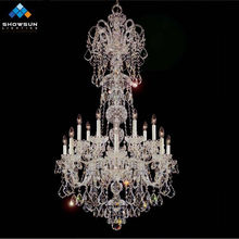 14 lights silver modern crystal candle chandelier