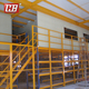 Medium Duty Industrial Storage Rack Steel Mezzanine Racking