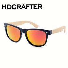 2016 new designer custom logo sport polarized bambu temples wood sunglasses