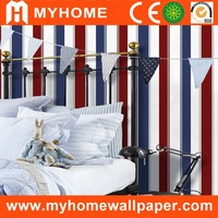 english style striped wallpaper for bedroom walls