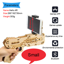hot selling Virtual Shooting Game controller Bluetooth wood AR gun for mobile phone
