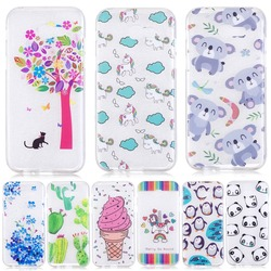 TPU plant cactus Soft Case For Samsung Galay Transparent Ultra-Thin Silicone Phone Cover