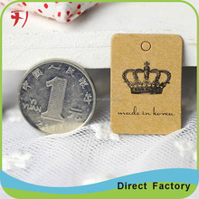 Custom printing kraft hang tag jeans hang tags jewelry hang tag craft paper cards