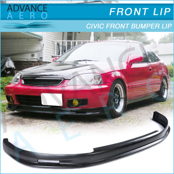 FOR HONDA CIVIC MUGEN STYLE POLY URETHANE FRONT BUMPER LIP - 1999 acura tl front lip