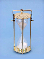 Brass Sand Timer - Hourglass Sand Timer - West London - Decorative, Crafted