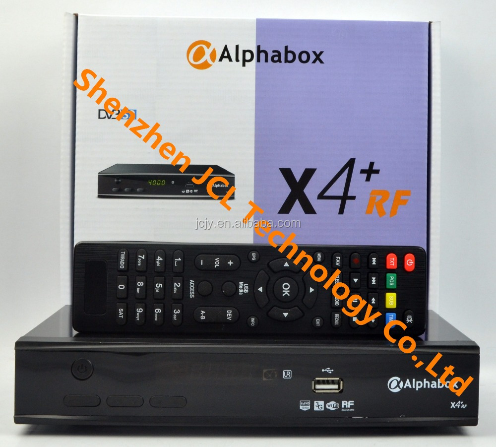 Stocks for 2016 newest Alphabox X4+ RF Powervu autoroll HD DVB-S2 satellite decoder Support Cccam, Newcamd, Mgcamd,USB wifi,3G