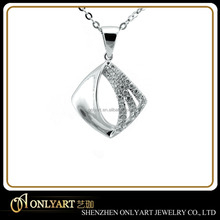 925 sterling silver pendant cz inlaid pendant silver