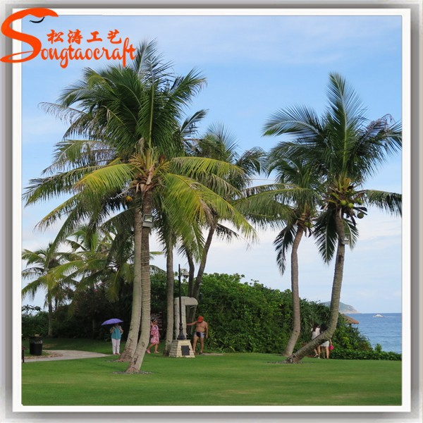 China tops steel and plastic material coconut palm tree artificial palm tree