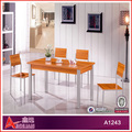 hot sale table and 4 chairs melamine modern oak dining table dining table set