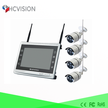 configure ip wireless camera 4 Channel video surveillance kit have complete cctv spare parts