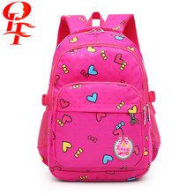fashion pink school bags for girls daily with high capacity