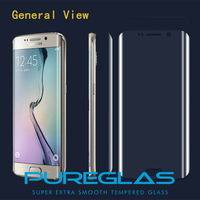 3D covered full clear transparency blue ligth s7 edge tempered glass screen protector