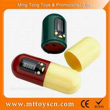 Promotional customized logo medicine carry case plastic electronic pill box