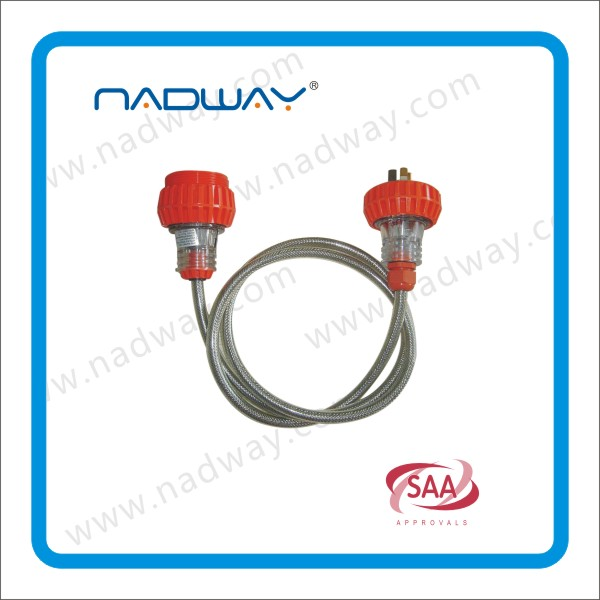 Gold supplier NADWAY product Australia standard black industrial waterproof plug and connector Direct Manufacturer