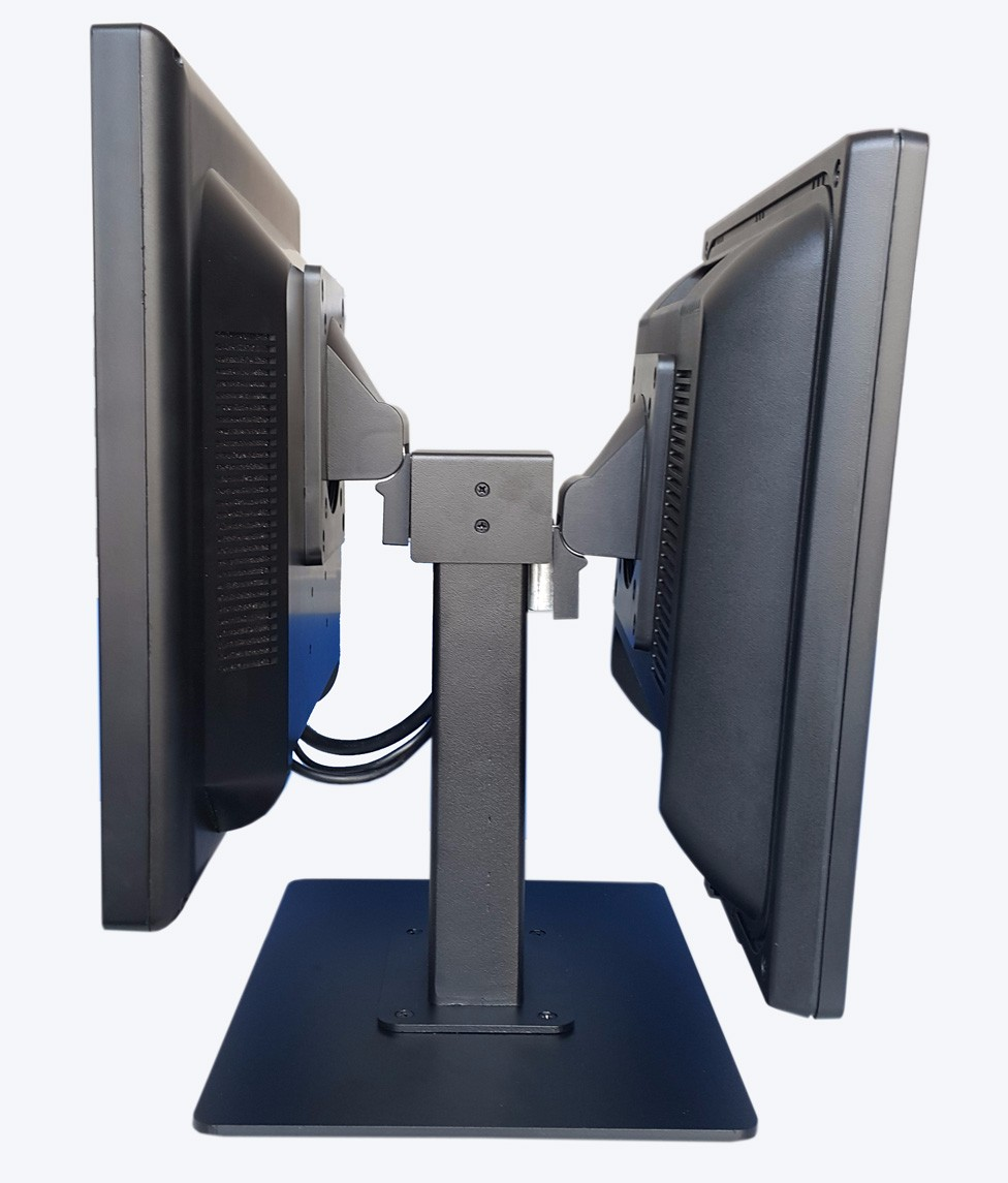 Double monitor stand