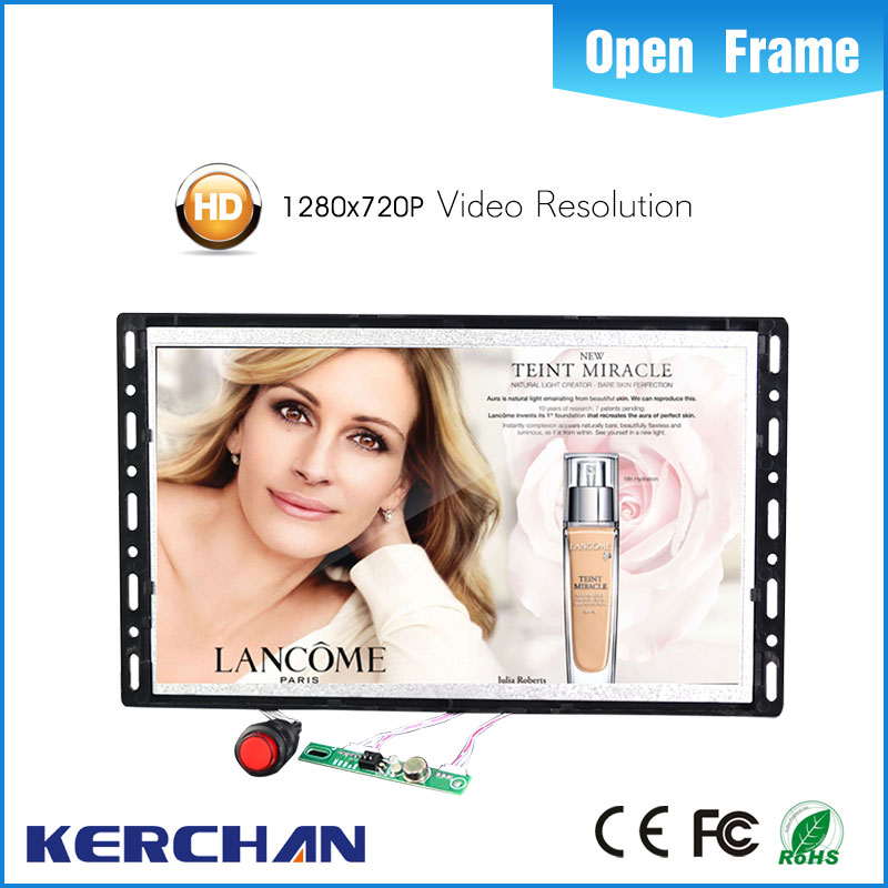 7 inch pos lcd advertising display media player frameless screen with for supermarket goods shelf