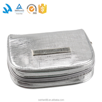 Slivery hanging pvc mini cosmetic makeup bag wholesale