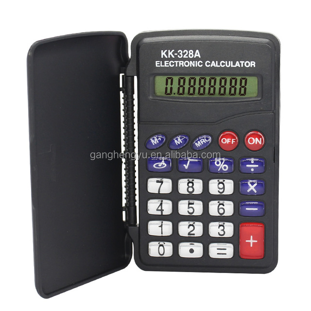 Top Level 8 Digit Mini Clip Cover Protective Electronic Digit Calculator