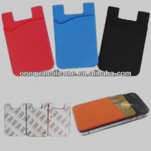 Universial Silicon Smart Wallet Phone Back Card Holder Pouch