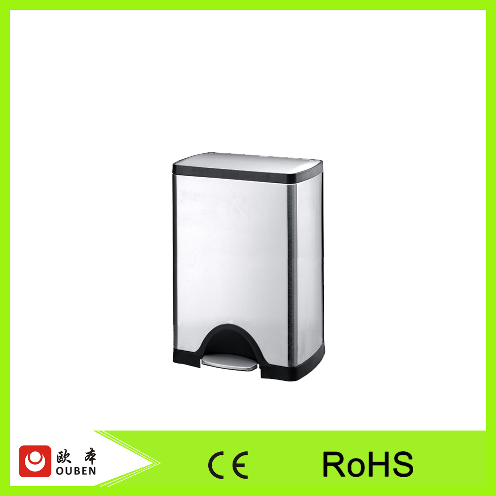 Stainless steel foot pedal trash can rubbish bin