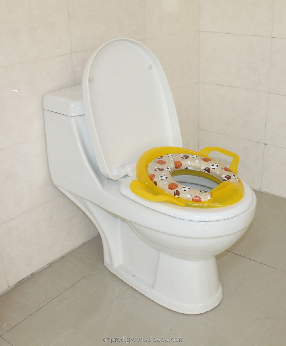 kids toilet seat cover with handle