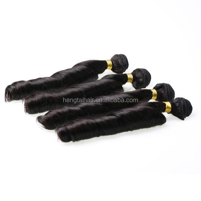 Grade 5a Malaysian Spring Curls Virgin Hair 3 Pcs 100% Human Hair Extensions Natural Black free shipping