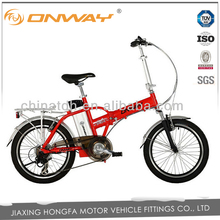 Onway 36V 7Ah folding bicicleta electrica with 250W motor
