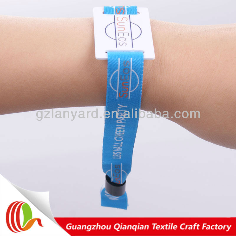 Fabric polyester uhf rfid tag wristband